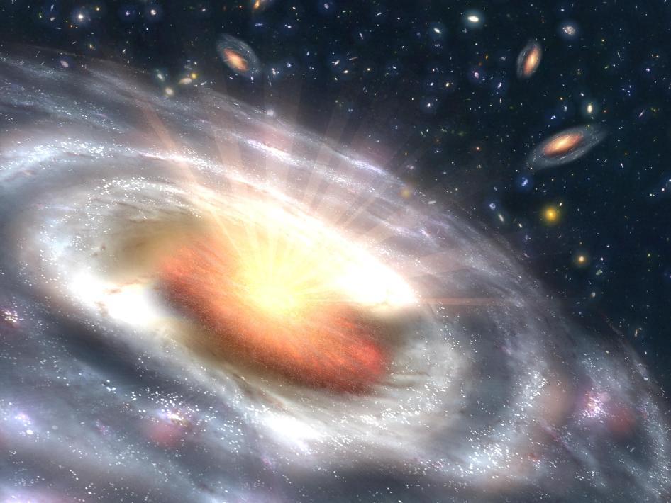 A growing black hole, called a quasar